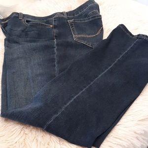 Falls Creek distress boot cut jeans